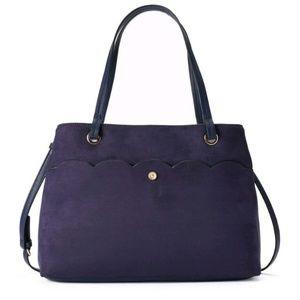 Lauren Conrad purple tote handbag